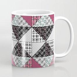 Beautiful red black white patchwork . Coffee Mug