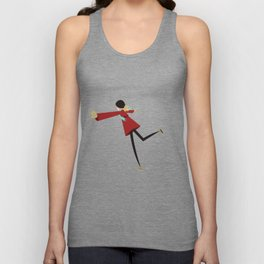 Ice Skate girl Unisex Tank Top