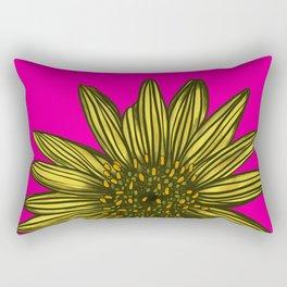 Mellow Yellow Daisy on hot pink Rectangular Pillow