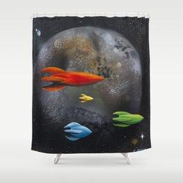 Forbidden Planet Shower Curtain