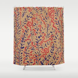 Indian Snakes Shower Curtain