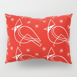 Cardinals, White on Red Pillow Sham
