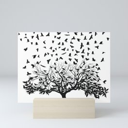 Crows in a tree Mini Art Print