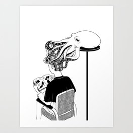 Octopus Salon Art Print