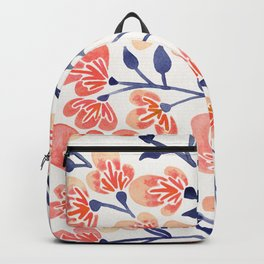 Cherry Blossoms – Peach & Navy Palette Backpack