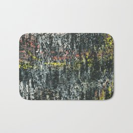 And Then...an Acrylic Abstact Painting Bath Mat