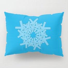 Asterisk Series: Avenir Next Condensed in the Round on Cyan Pillow Sham