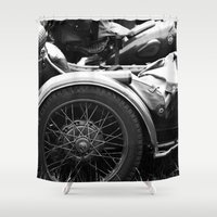 motorcycle Shower Curtains featuring motorcycle by Falko Follert Art-FF77