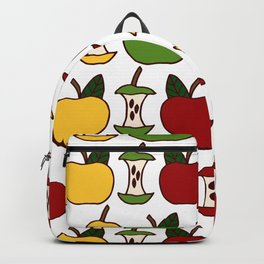 Apples and Apple Cores Multi-Colored Backpack