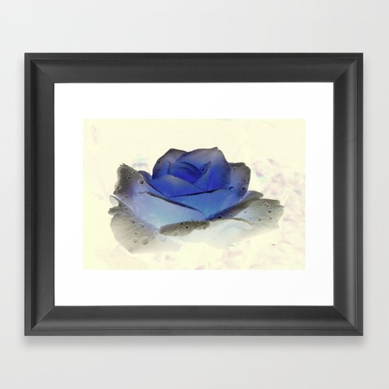 something blue... Framed Art Print