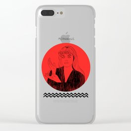 Laura Palmer MEANWHILE Twin Peaks Clear iPhone Case