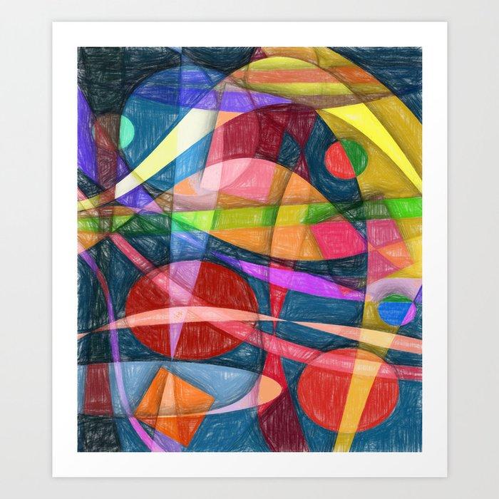Abstract #398 Art Print