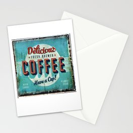 Vintage Style Coffee Sign Stationery Cards