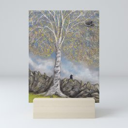 Silver Birch Nest Builders Mini Art Print