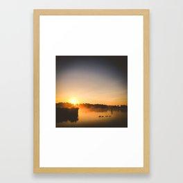 Sunrise with company Framed Art Print
