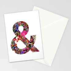 & ampersand print Stationery Cards