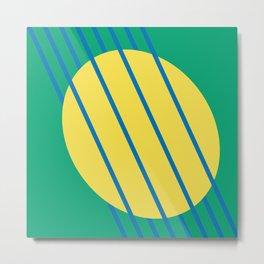 Abstract Woven Summer Sun Graphic Art Print Metal Print
