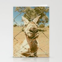 kangaroo Stationery Cards featuring Kangaroo by Ellenor Argyropoulos