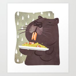 Nutria, yellow rice and bad weather - Welcome to Lombardy Art Print