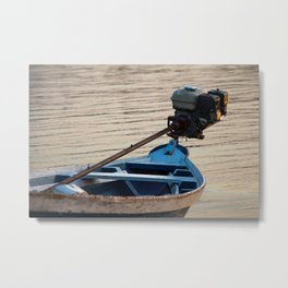 Amazon Boat Metal Print