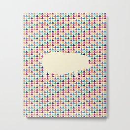 Geometric Piglet  Metal Print