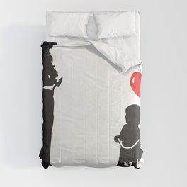Banksy Policeman & girl on bike, Streetart Street Art, Grafitti, Artwork, Design For Men, Women, Kid Comforters