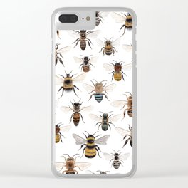 A Collection of Native Bees Clear iPhone Case