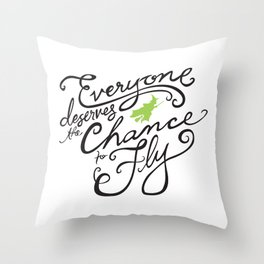 Everyone Deserves the Chance to Fly // Defying Gravity // Wicked Throw Pillow