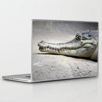 crocodile Laptop & iPad Skins featuring Crocodile by Tiffany Anne