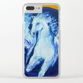 My Dream: Three Horses from the Stars Clear iPhone Case