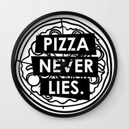 Pizza never lies Wall Clock