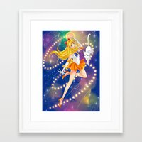 sailor venus Framed Art Prints featuring Sailor Venus  by Moonsia
