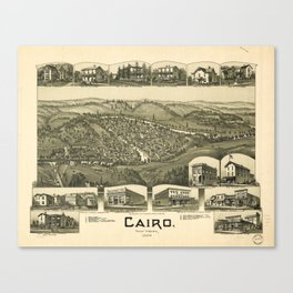Aerial View of Cairo, West Virginia (1899) Canvas Print
