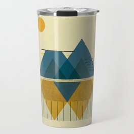 Triangle Mountain Collage Sunset 246 Travel Mug