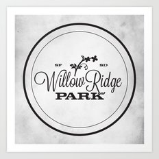 Willow Ridge Park Art Print