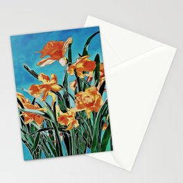 Blooming Golden Daffodils Stationery Cards