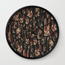Carnivore RED MEAT / Animal skull illustrations from the top of the food chain Wall Clock