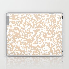 Small Spots - White and Pastel Brown Laptop & iPad Skin