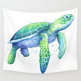 Green Sea Turtle Wall Tapestry