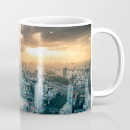 sunset over city Coffee Mug