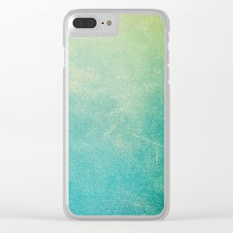 Jade Ombre Clear iPhone Case