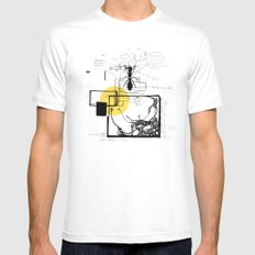 Ant In His Universe White Mens Fitted Tee MEDIUM