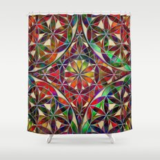 Flower of Life variation Shower Curtain
