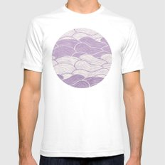 The Lavender Seas SMALL Mens Fitted Tee White