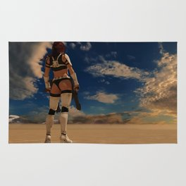Sexy Storm Trooper - Desert - Sky - Pin up - ZG 3D Rug