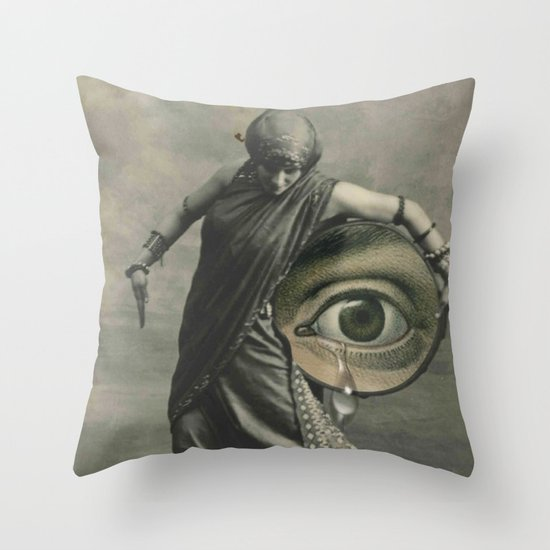 EYE CRY Throw Pillow