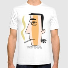 Cigarettes Mens Fitted Tee MEDIUM White