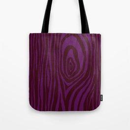 Purple Wood Grain Tote Bag