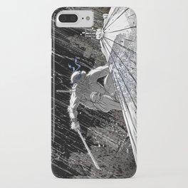 Black and White Ninja Turtle Leonardo iPhone Case