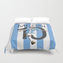 Lionel Messi Argentina 10 Print Duvet Cover